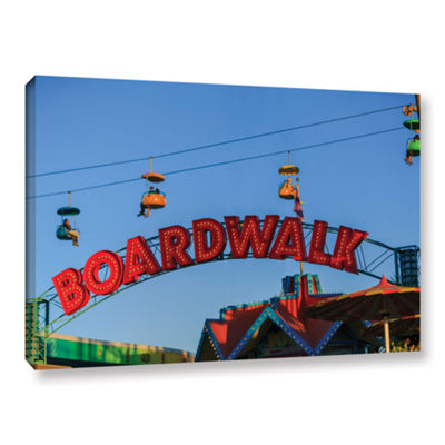 Brushstone Santa Cruz Boardwalk Gallery Wrapped Canvas Wall Art