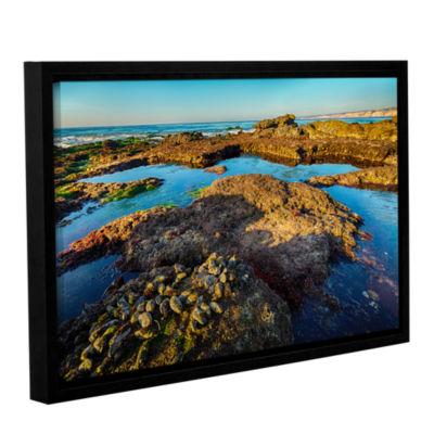 Brushstone La Jolla New Year King Tide 1 Gallery Wrapped Floater-Framed Canvas Wall Art