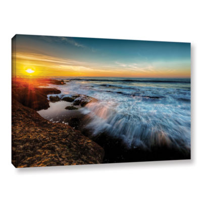 Brushstone La Jolla New Year King Tide 3 Gallery Wrapped Canvas Wall Art