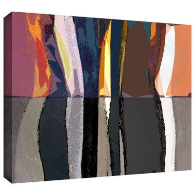 Brushstone Geometric Evolution Gallery Wrapped Canvas Wall Art