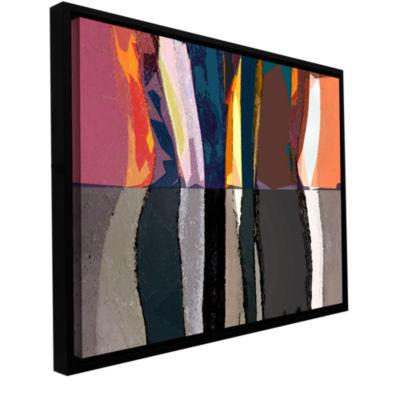 Brushstone Geometric Evolution Gallery Wrapped Floater-Framed Canvas Wall Art