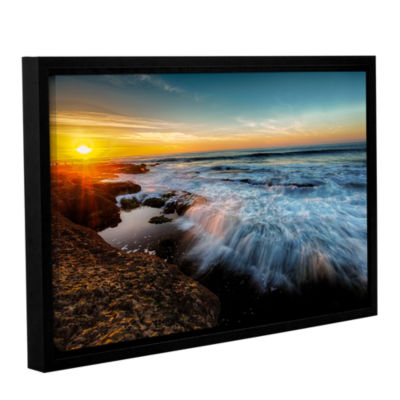 Brushstone La Jolla New Year King Tide 3 Gallery Wrapped Floater-Framed Canvas Wall Art
