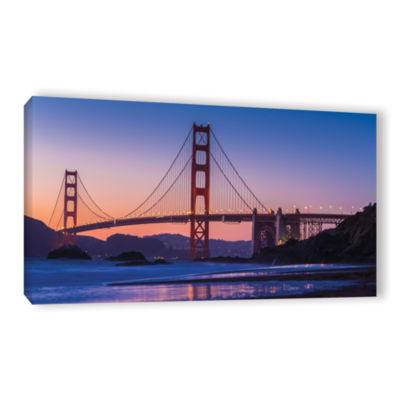 Brushstone Golden Gate Bridge Blues Gallery Wrapped Canvas Wall Art