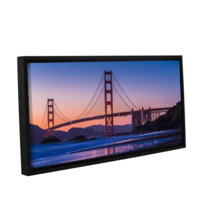 Brushstone Golden Gate Bridge Blues Gallery Wrapped Floater-Framed Canvas Wall Art