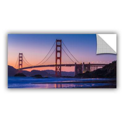 Brushstone Golden Gate Bridge Blues Removable WallDecal