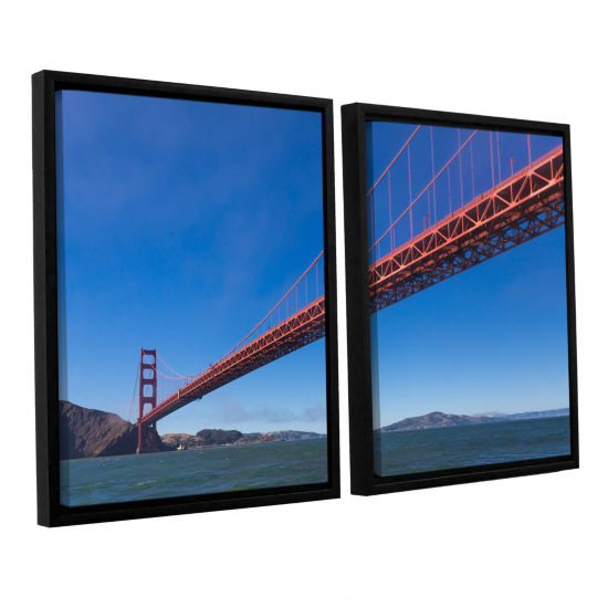 Brushstone Golden Gate From The Bay 2-pc. FloaterFramed Canvas Wall Art