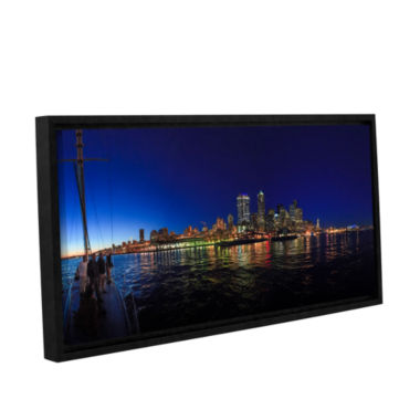 Brushstone Seattle City Skyline Romance Gallery Wrapped Floater-Framed Canvas Wall Art