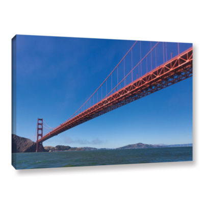 Brushstone Golden Gate From The Bay Gallery Wrapped Canvas Wall Art