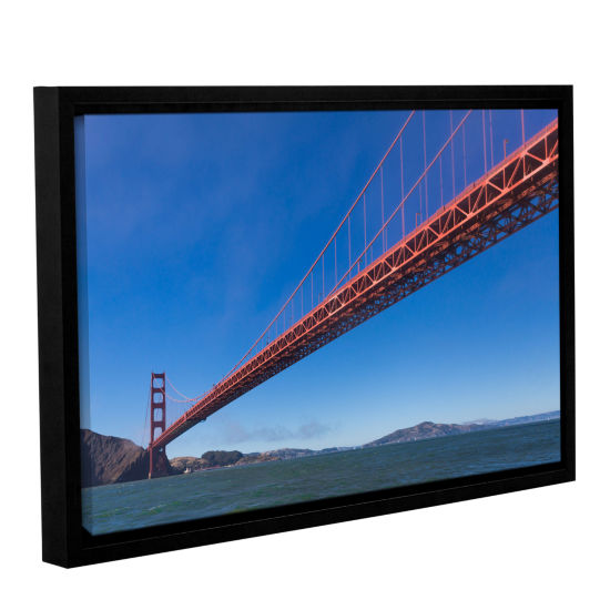 Brushstone Golden Gate From The Bay Gallery Wrapped Floater-Framed Canvas Wall Art