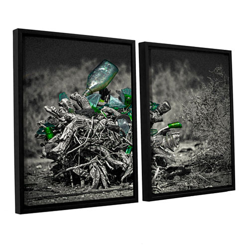 Brushstone Stumped To Stop 2-pc. Floater Framed Canvas Wall Art