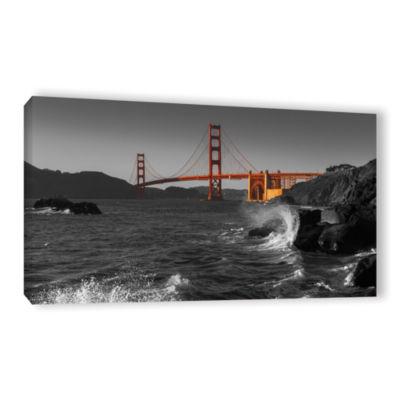 Brushstone Golden Gate Bridge Study 2 Bw Gallery Wrapped Canvas Wall Art