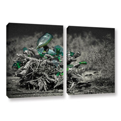 Brushstone Stumped To Stop 2-pc. Gallery Wrapped Canvas Wall Art