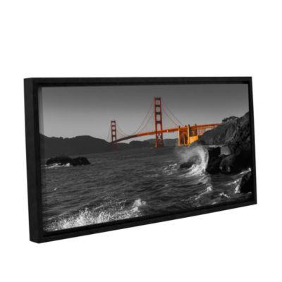 Brushstone Golden Gate Bridge Study 2 Bw Gallery Wrapped Floater-Framed Canvas Wall Art