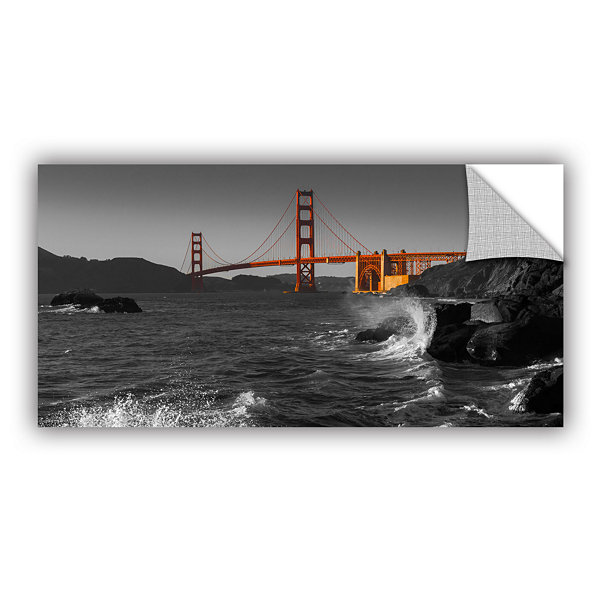 Brushstone Golden Gate Bridge Study 2 Bw RemovableWall Decal