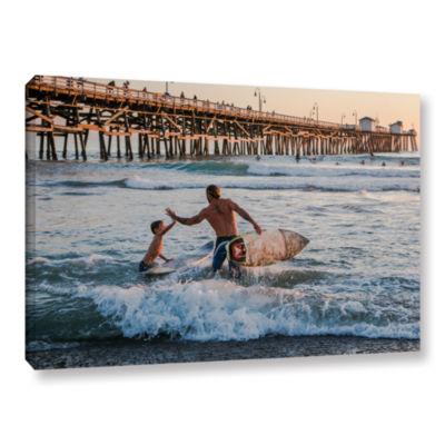 Brushstone Surfboard Inspirational Gallery WrappedCanvas Wall Art