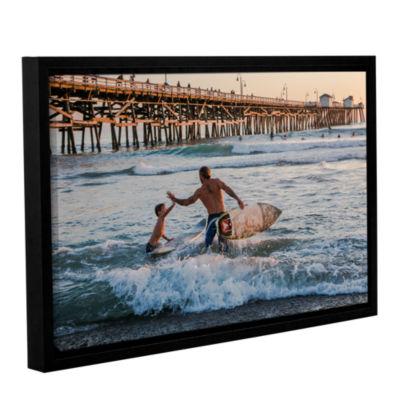 Brushstone Surfboard Inspirational Gallery WrappedFloater-Framed Canvas Wall Art