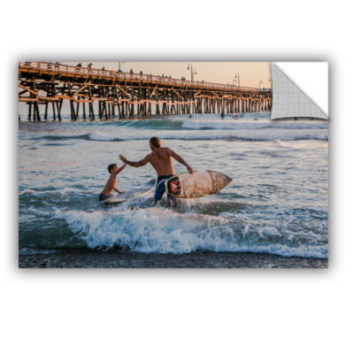 Brushstone Surfboard Inspirational Removable WallDecal