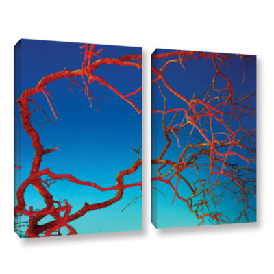 Brushstone Horrors 2-pc. Gallery Wrapped Canvas Wall Art