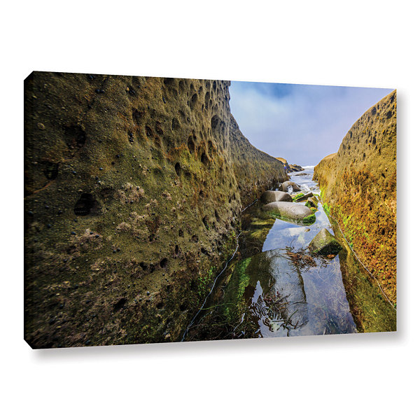 Brushstone Low Tide Trough 1 Gallery Wrapped Canvas Wall Art