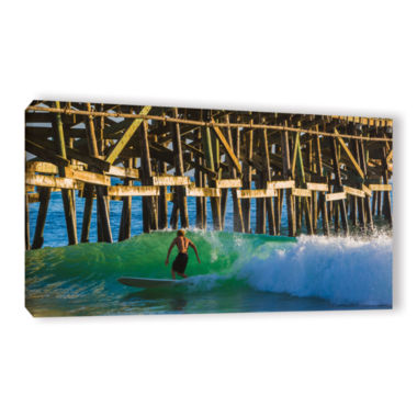 Brushstone Surfer Dude 2 Gallery Wrapped Canvas Wall Art