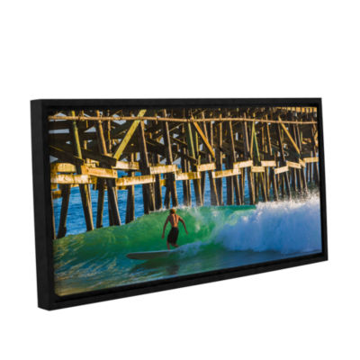 Brushstone Surfer Dude 2 Gallery Wrapped Floater-Framed Canvas Wall Art
