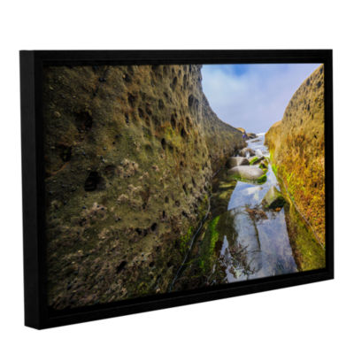 Brushstone Low Tide Trough 1 Gallery Wrapped Floater-Framed Canvas Wall Art