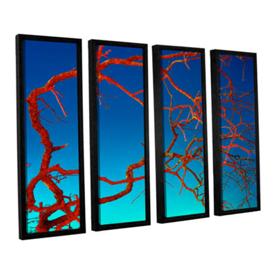 Brushstone Horrors 4-pc. Floater Framed Canvas Wall Art
