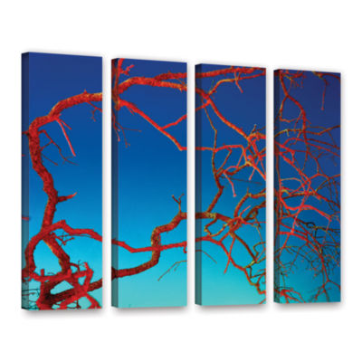 Brushstone Horrors 4-pc. Gallery Wrapped Canvas Wall Art