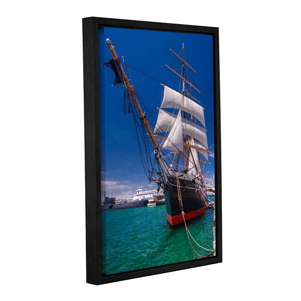 Brushstone Tall Beauty Gallery Wrapped Floater-Framed Canvas Wall Art