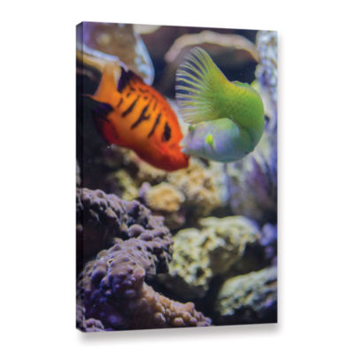 Brushstone The Fish Kiss Gallery Wrapped Canvas Wall Art