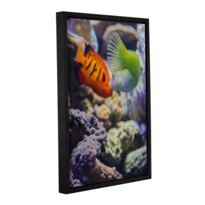 Brushstone The Fish Kiss Gallery Wrapped Floater-Framed Canvas Wall Art
