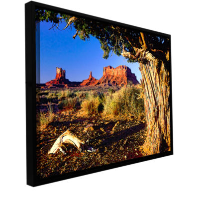 Brushstone Monument Valley Morn Gallery Wrapped Floater-Framed Canvas Wall Art