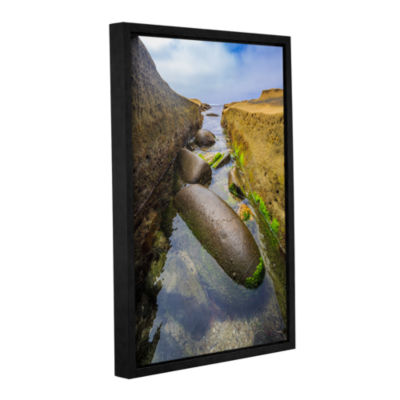 Brushstone Low Tide Trough 2 Gallery Wrapped Floater-Framed Canvas Wall Art