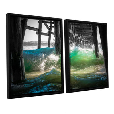 Brushstone There Is Hope Under The Pier 2-pc. Floater Framed Canvas Wall Art