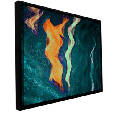 Brushstone The Depths Gallery Wrapped Floater-Framed Canvas Wall Art