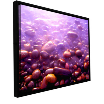 Brushstone Tide And Twilight Gallery Wrapped Floater-Framed Canvas Wall Art