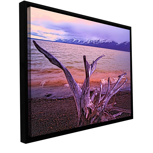 Brushstone Grand Tetons Storm Light Gallery Wrapped Floater-Framed Canvas Wall Art