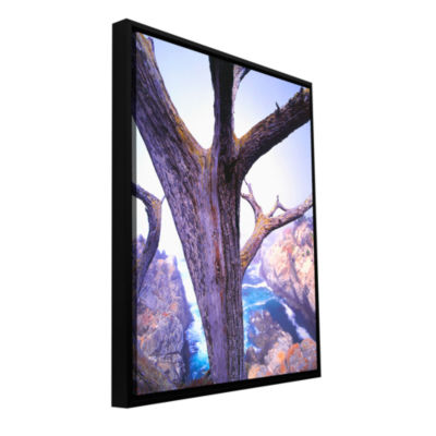 Brushstone Morning Fog And Cypress Gallery WrappedFloater-Framed Canvas Wall Art