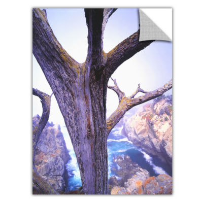 Brushstone Morning Fog And Cypress Removable WallDecal