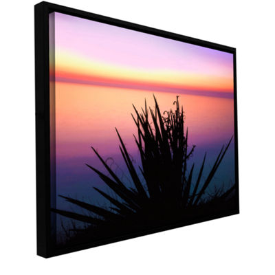Brushstone Pacific Cliff Yucca Gallery Wrapped Floater-Framed Canvas Wall Art