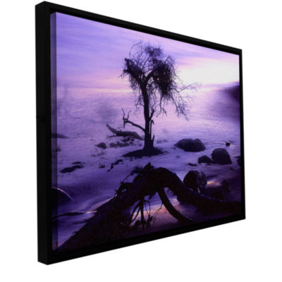 Brushstone Sand And Snow Gallery Wrapped Floater-Framed Canvas Wall Art