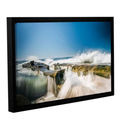 Brushstone Incoming La Jolla Rock Gallery WrappedFloater-Framed Canvas Wall Art