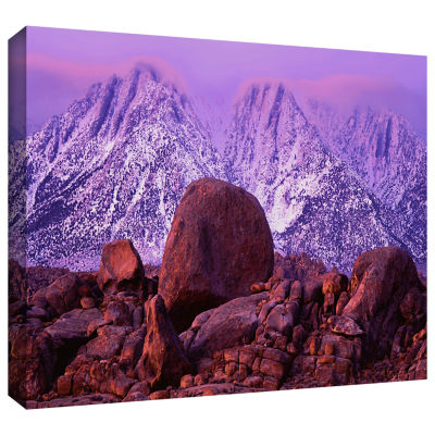 Brushstone Sierra Sun Rise Gallery Wrapped CanvasWall Art