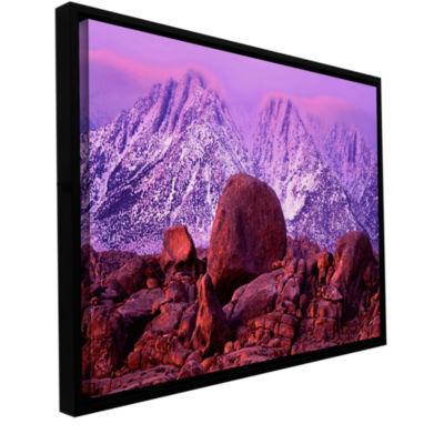 Brushstone Sierra Sun Rise Gallery Wrapped Floater-Framed Canvas Wall Art