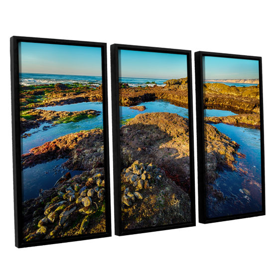 Brushstone La Jolla New Year King Tide 1 3-pc. Floater Framed Canvas Wall Art