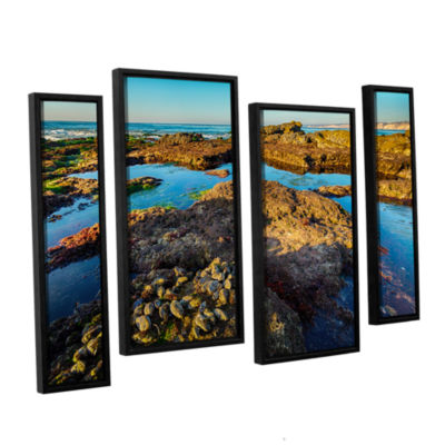 Brushstone La Jolla New Year King Tide 1 4-pc. Floater Framed Staggered Canvas Wall Art