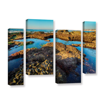 Brushstone La Jolla New Year King Tide 1 4-pc. Gallery Wrapped Staggered Canvas Wall Art