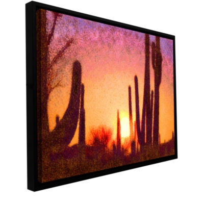 Brushstone Sonoran Summer Gallery Wrapped Floater-Framed Canvas Wall Art
