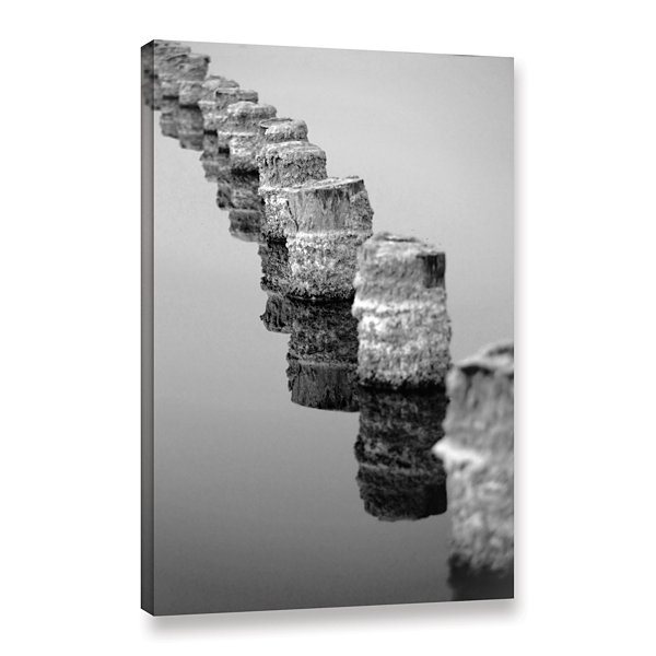 Brushstone March I Say Black And White Gallery Wrapped Canvas Wall Art