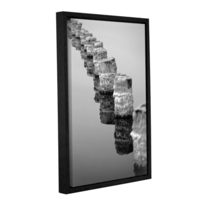 Brushstone March I Say Black And White Gallery Wrapped Floater-Framed Canvas Wall Art
